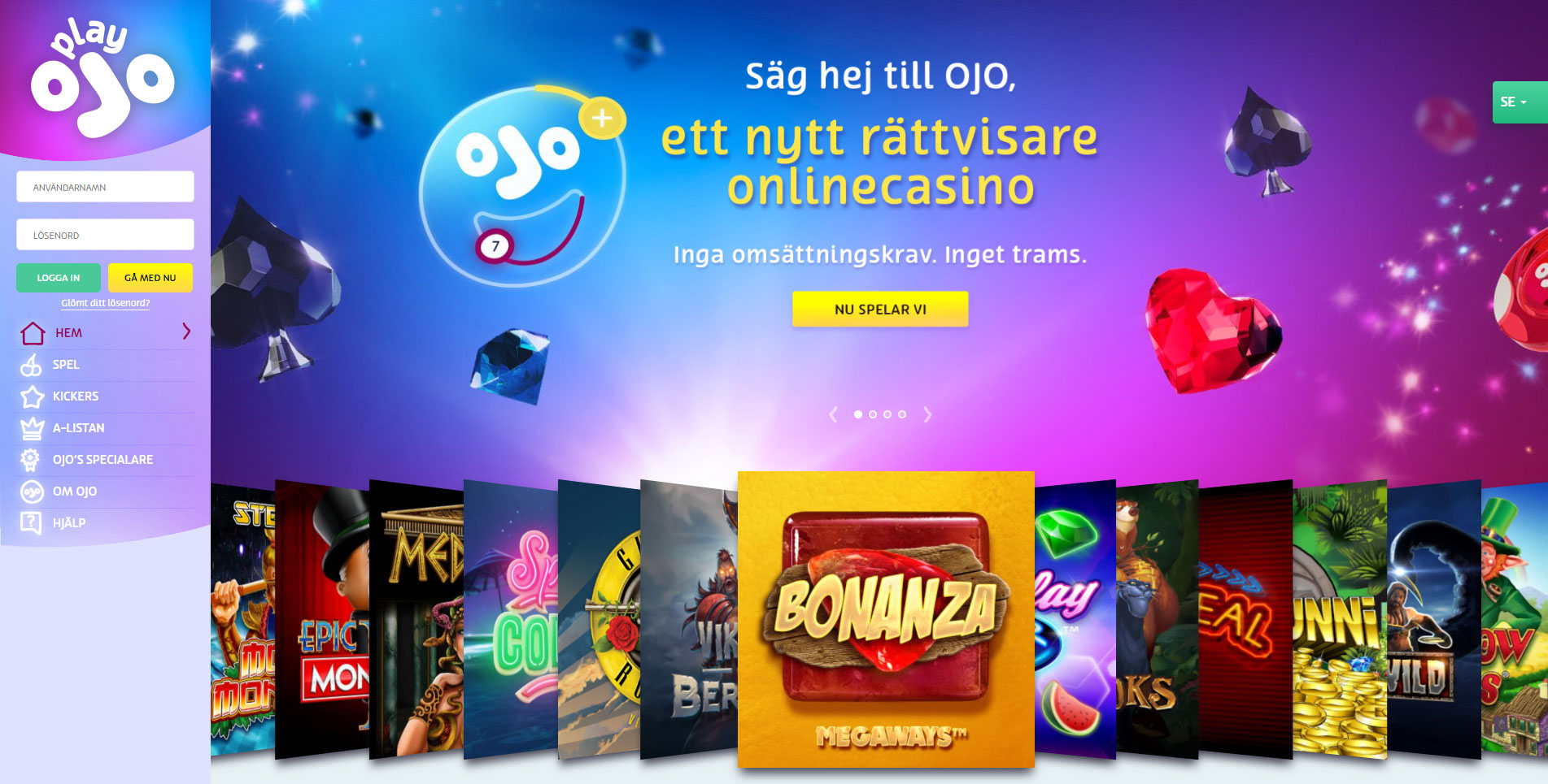 Play OJO Bitcoin casino recension